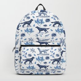BIRD DOGS & CALSSIC BLUE FRENCH PORCELAIN Backpack