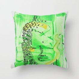 Buddha Green Throw Pillow