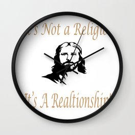 It's Not A Religion It's A Relationship Jesus Christian Gifts Wall Clock