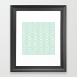 Geometric Umbrellas by Friztin Framed Art Print
