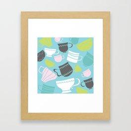 tea cups Framed Art Print