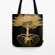 Heart Tree - Orange Tote Bag