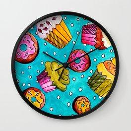 Muffins and doughnuts Wall Clock