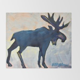 Appreciation - Moose Throw Blanket