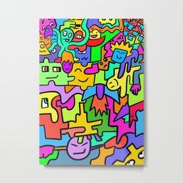 Funny abstract mix 1 Metal Print