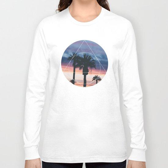 Sunset Palms - Geometric Photography Long Sleeve T-shirt