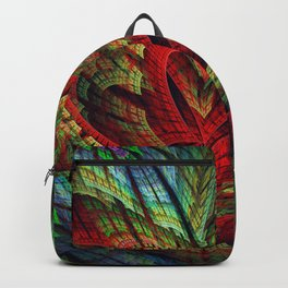 Entangled hearts, symbolic fractal abstract Backpack