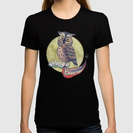 Lanyu Scops Owl with Traditional Canoe T-shirt