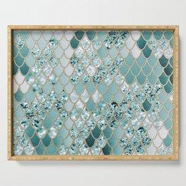 Mermaid Glitter Scales #3 #shiny #decor #art #society6 Serving Tray