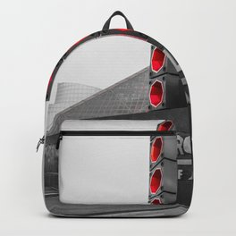 Cleveland Ohio Rock And Roll Hall Of Fame Black White Red Backpack