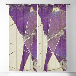 PURPLE FRAGMENTS 01 Blackout Curtain