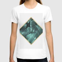 Geometric and botanical XI T-shirt