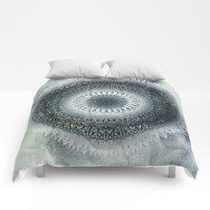 WINTER LEAVES MANDALA Comforters