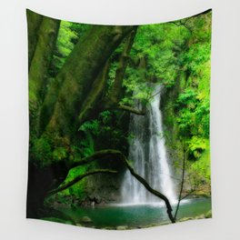 Waterfall in Azores islands Wall Tapestry