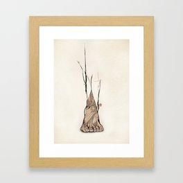 TOMS Foot Illustration  Framed Art Print