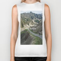 miles davis Biker Tanks featuring Thousand Miles by Natalie Guardado