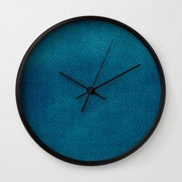 Blue Watercolor Square Wall Clock