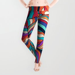 African Style No24, Sahara echoes Leggings