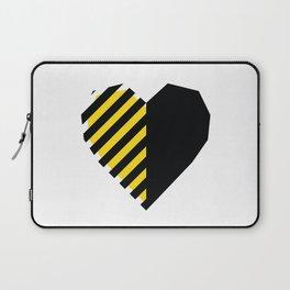 Yellow Love Heart Laptop Sleeve