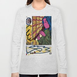 Alice Charms the Flamingos in Defiance of the Queens Long Sleeve T-shirt