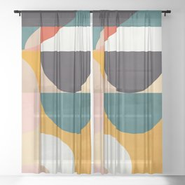 modern shapes 7 Sheer Curtain