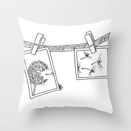 Dandelion in photos Throw Pillow