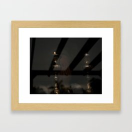 Shabbos Candles Framed Art Print