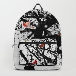 Red Birds in Snow by GEN Z Backpack