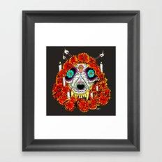 lupe calavera Framed Art Print