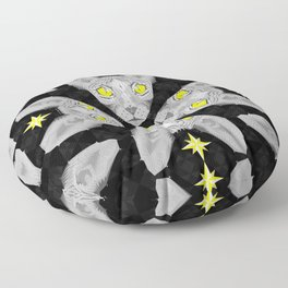Sphynx Cat Black Pattern Floor Pillow