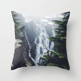 Water on the Mountain Throw Pillow