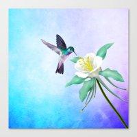 hummingbird Canvas Prints featuring hummingbird. by haroulita