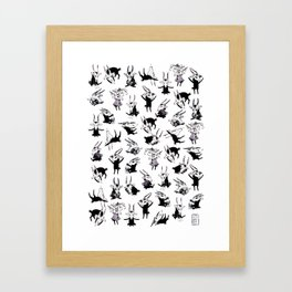 Odal Pattern Framed Art Print