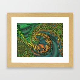 Dragon's Lair - Fractal Art Framed Art Print