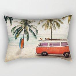 Vintage Beach Days Rectangular Pillow