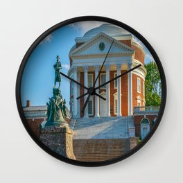 Virginia Charlottesville Campus Print Wall Clock