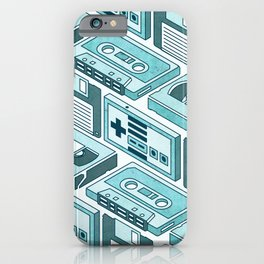 90's pattern-blue iPhone Case