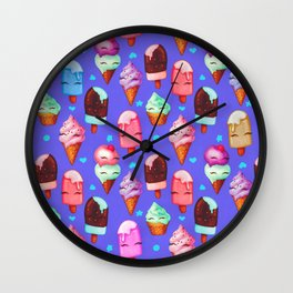 Popsicles and Ice Cream - Purple Wall Clock