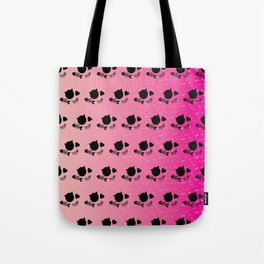 Tropical Pink Radient Cat Gems Pattern Tote Bag