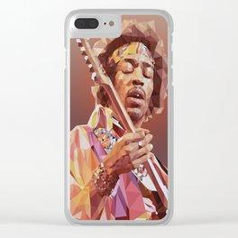 Jimi Hendrix Guitar God Clear iPhone Case