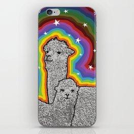 Colourful Alpacas and stars iPhone Skin