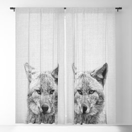 Coyote - Black & White Blackout Curtain
