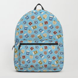 Cozy Mugs - Bg Blue Wood Backpack