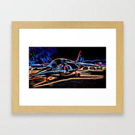 Neon Jet Framed Art Print