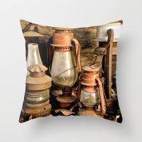 lanterns Throw Pillows featuring lanterns by Lisa Carpenter