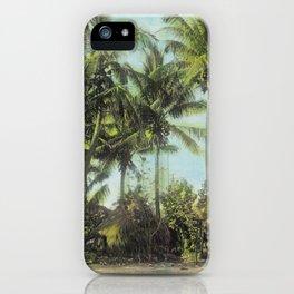 Little Grass Shacks Beneath Pam Trees in Hawaii iPhone Case