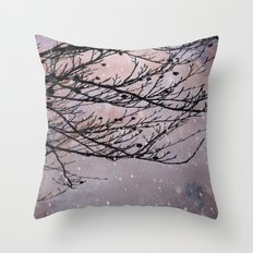 Dusky Winter Days Throw Pillow