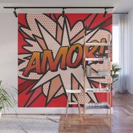 Comic Book AMOR! Wall Mural