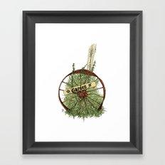 Wheel of Garden Framed Art Print