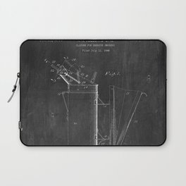 Beehive Smoker Patent with Bees Collage Laptop Sleeve